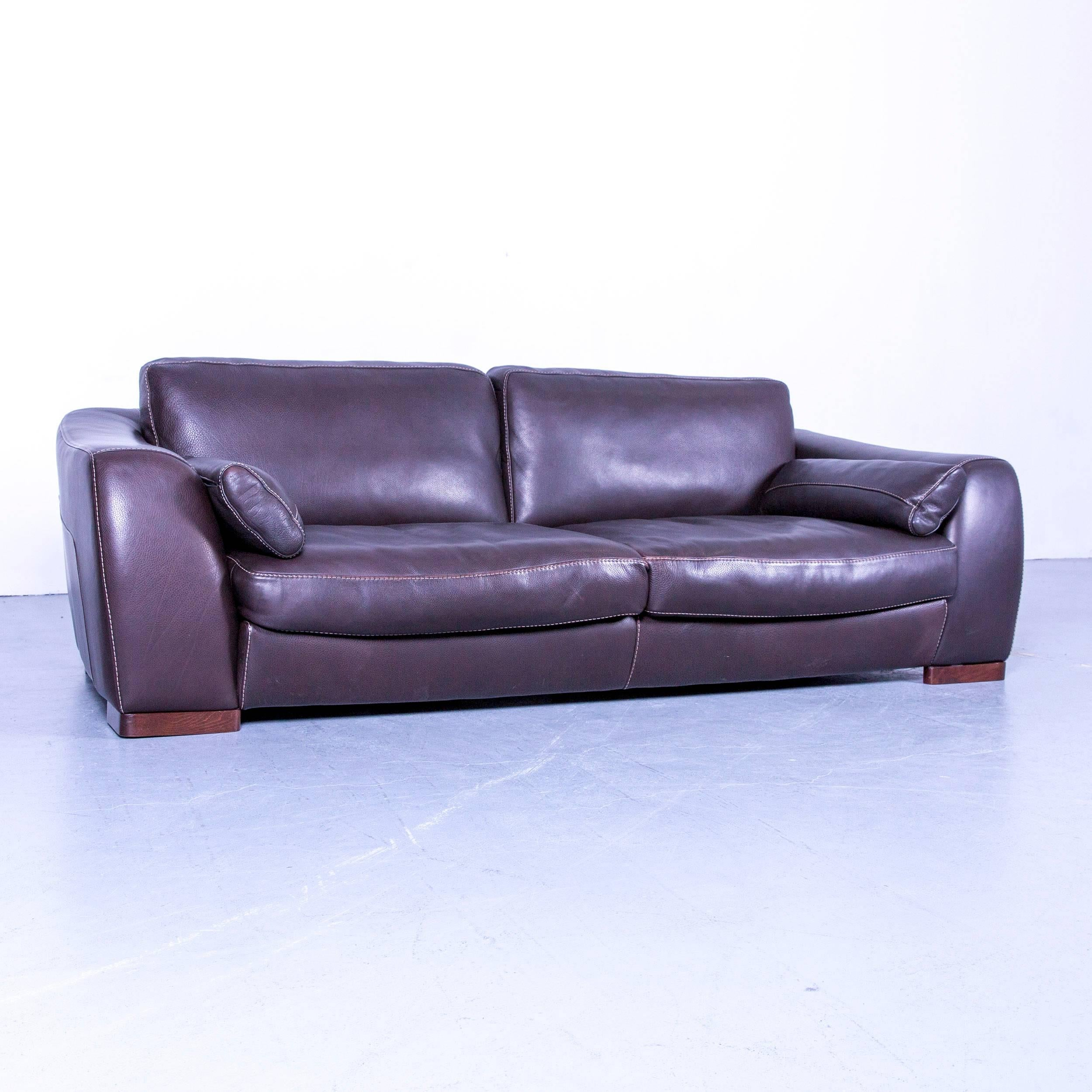 Genial Incanto Designer Sofa Brown Three Seater Couch With Pillows Leather At  1stdibs