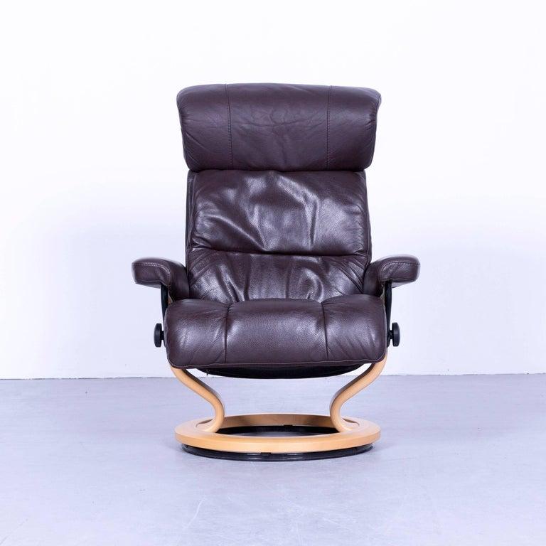 Ekornes Stressless Memphis Armchair Set Brown Leather ...