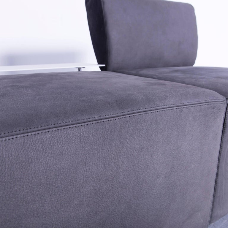 COR Clou Leather Sofa Grey Three-Seat For Sale 1