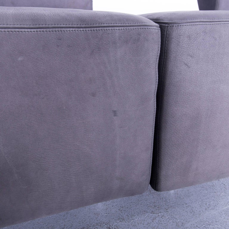 COR Clou Leather Sofa Grey Three-Seat For Sale 2