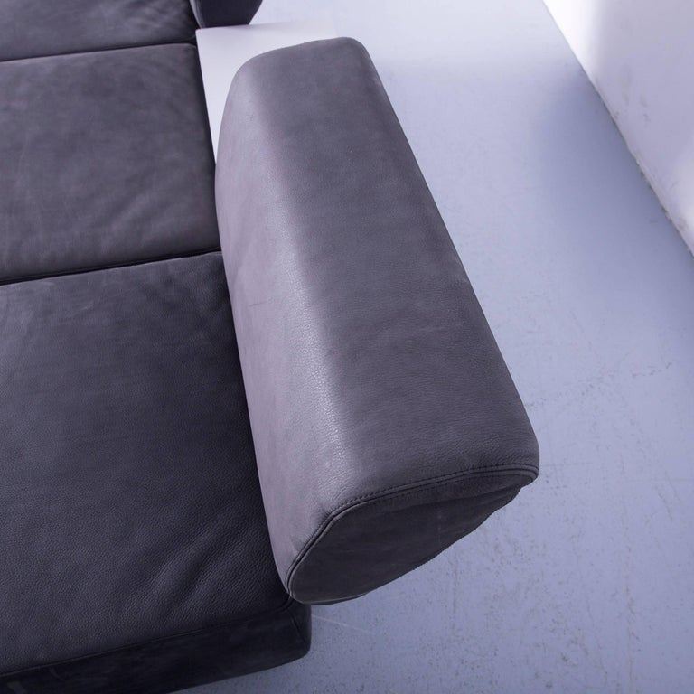 COR Clou Leather Sofa Grey Three-Seat For Sale 3