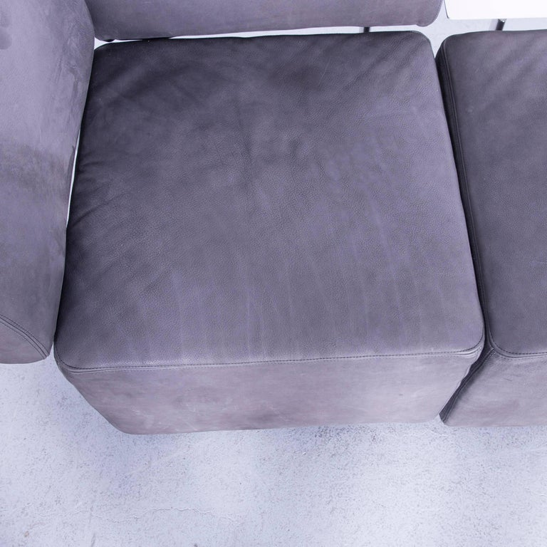 COR Clou Leather Sofa Grey Three-Seat For Sale 4