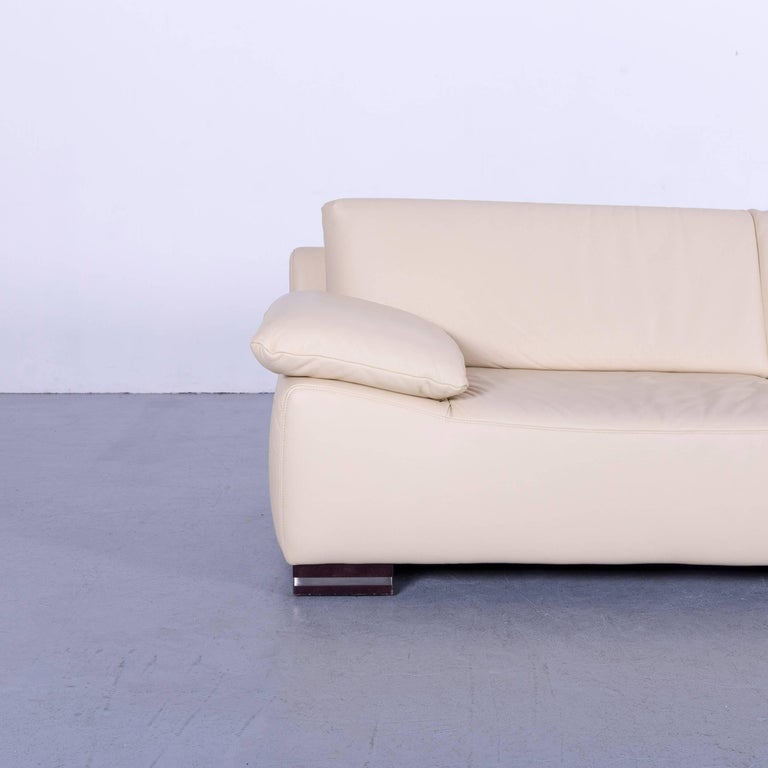 We Bring To You An Ewald Schillig Bentley Leather Sofa Off White Three Seat