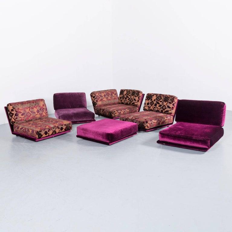 Bretz Napali Fabric Corner Sofa Purple Five-Seat at 1stdibs