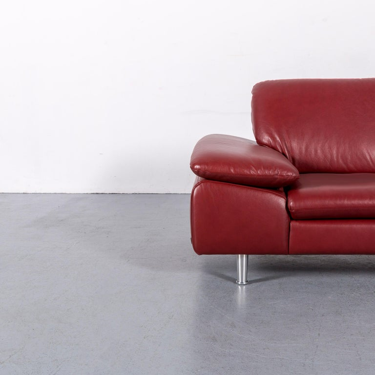 We bring to you an Willi Schillig loop leather corner-sofa red couch.
