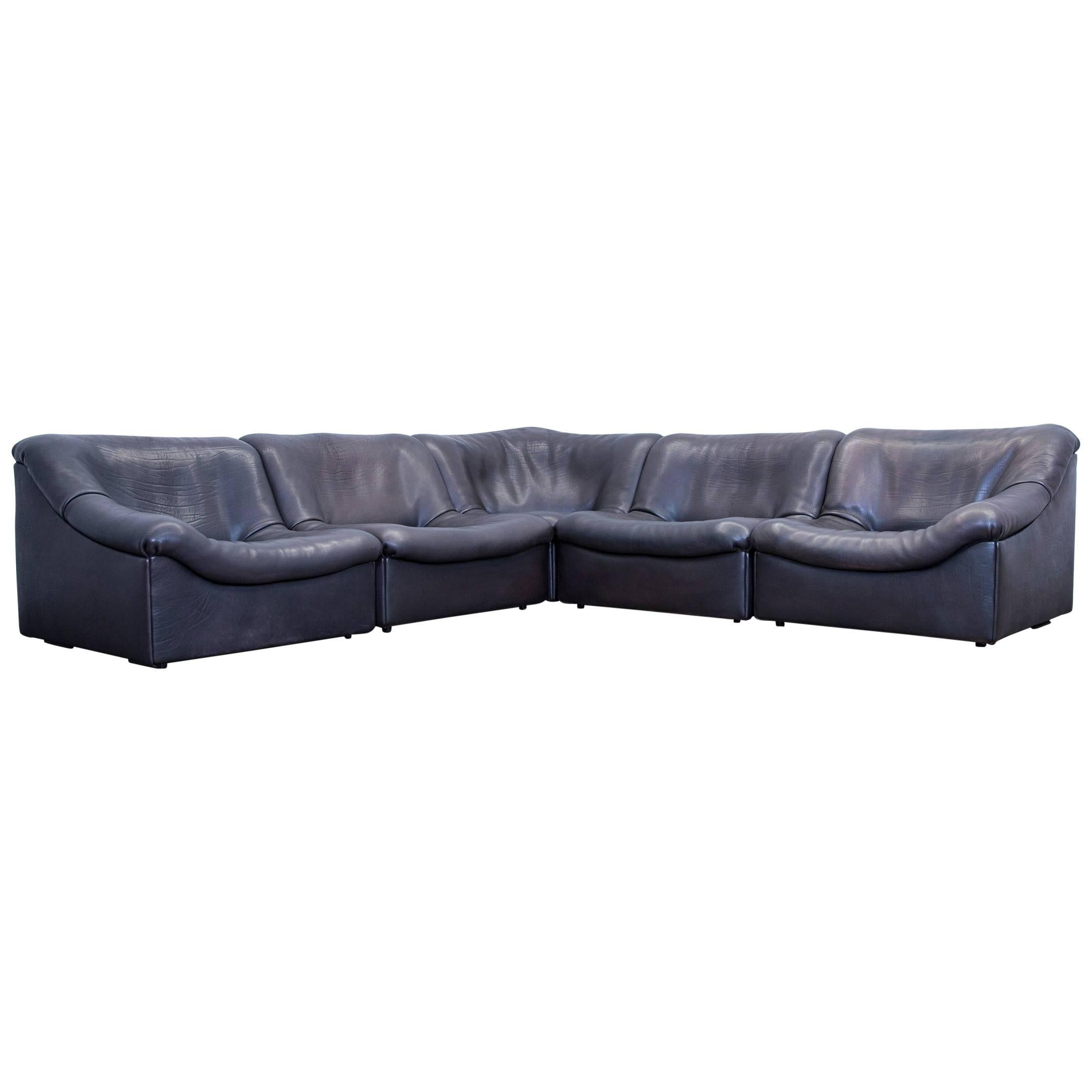 De Sede DS 46 Buff Leather Corner Sofa Brown Black Modular Function Couch  Modern