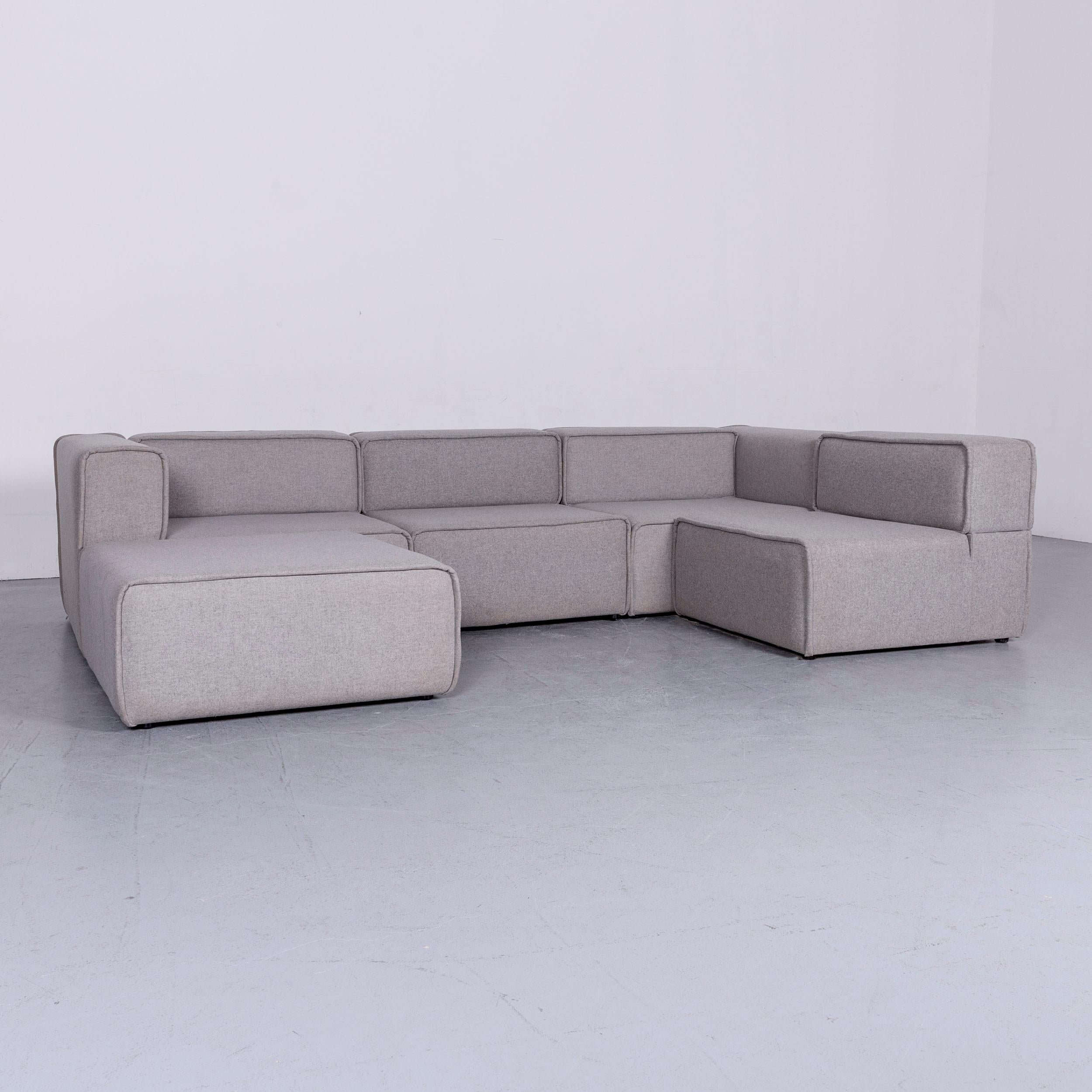 We Bring To You An BoConcept Carmo Designer Fabric Sofa Grey Corner Sofa  Couch.