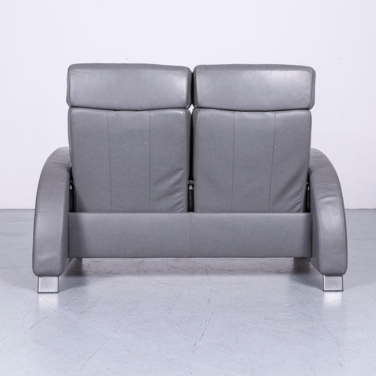 Ekornes Stressless Arion Sofa Grey Leather Two Seat With Function For 5