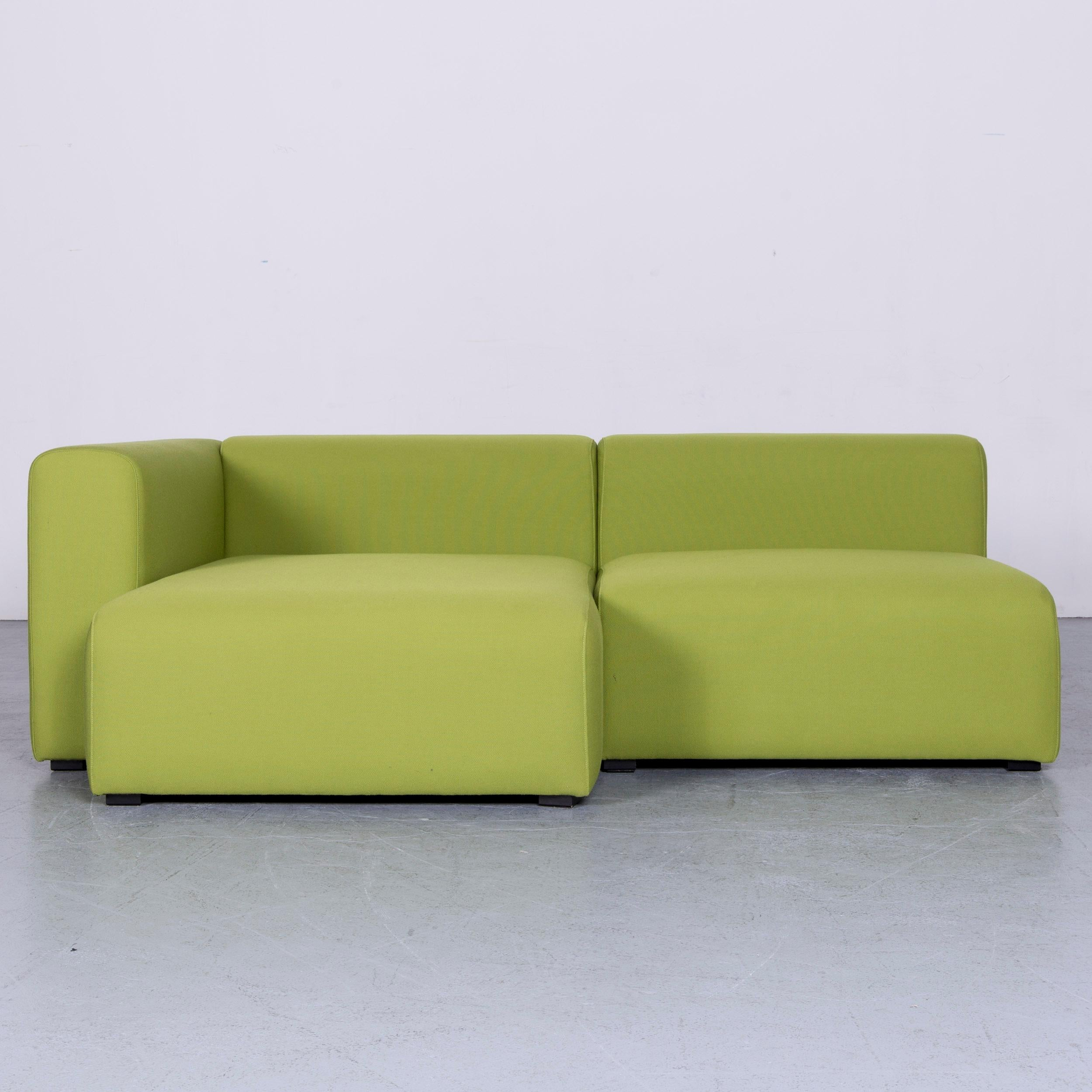 We Bring To You An Hay Mags Designer Fabric Sofa Green Corner Couch.