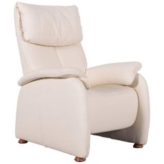 Himolla Leather Armchair Off-White One-Seat