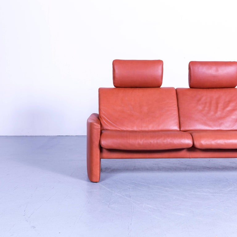 Erpo designer sofa leather brown, in a minimalistic and modern design, with convenient functions, made for pure comfort.