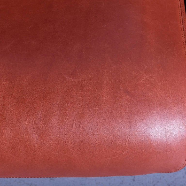 Erpo Designer Sofa Leather Brown Two-Seat Couch Modern Recliner 2