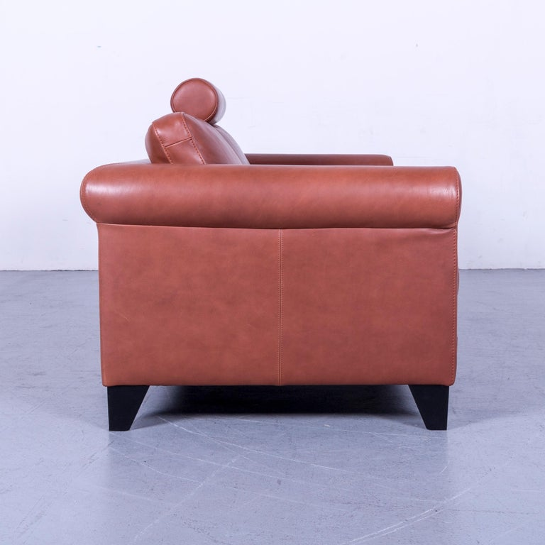 Machalke Designer Leather Sofa Red Two-Seat Couch Set For Sale 7