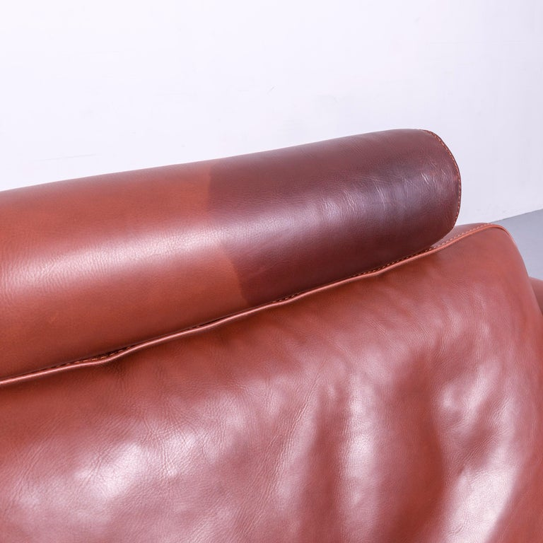 Machalke Designer Leather Sofa Red Two-Seat Couch Set For Sale 15