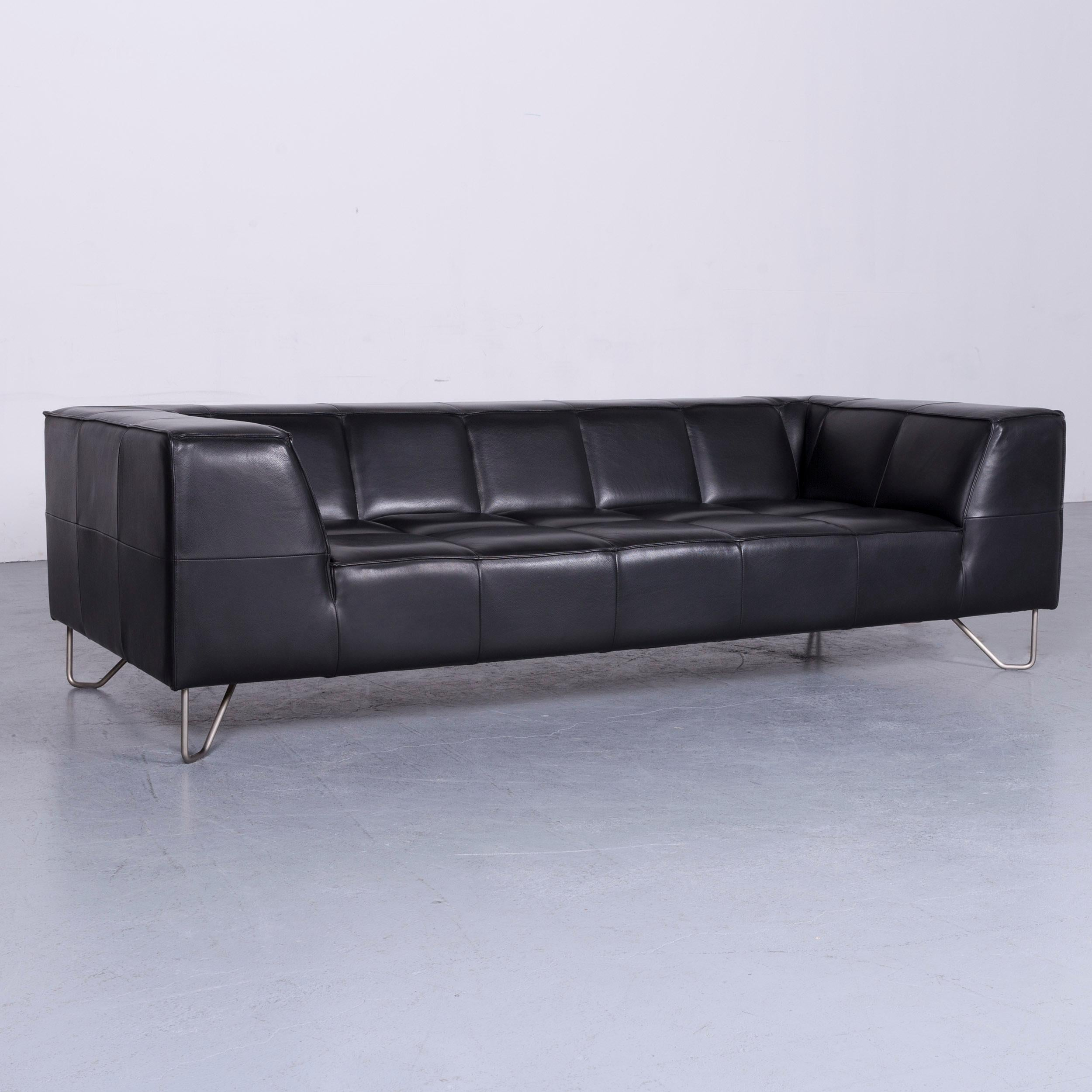We Bring To You A BoConcept Milos Designer Sofa Black Leather Three Seat  Couch.