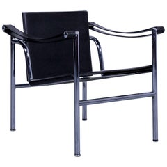 Cassina Le Corbusier LC 1 Sling Chair Black Leather Bauhaus