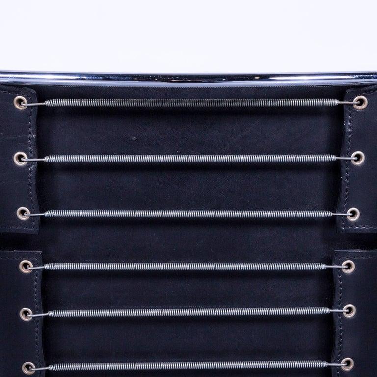 Italian Cassina Le Corbusier LC 1 Sling Chair Black Leather Bauhaus