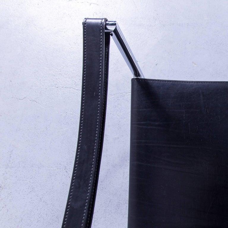 Cassina Le Corbusier LC 1 Sling Chair Black Leather Bauhaus In Excellent Condition In Cologne, DE