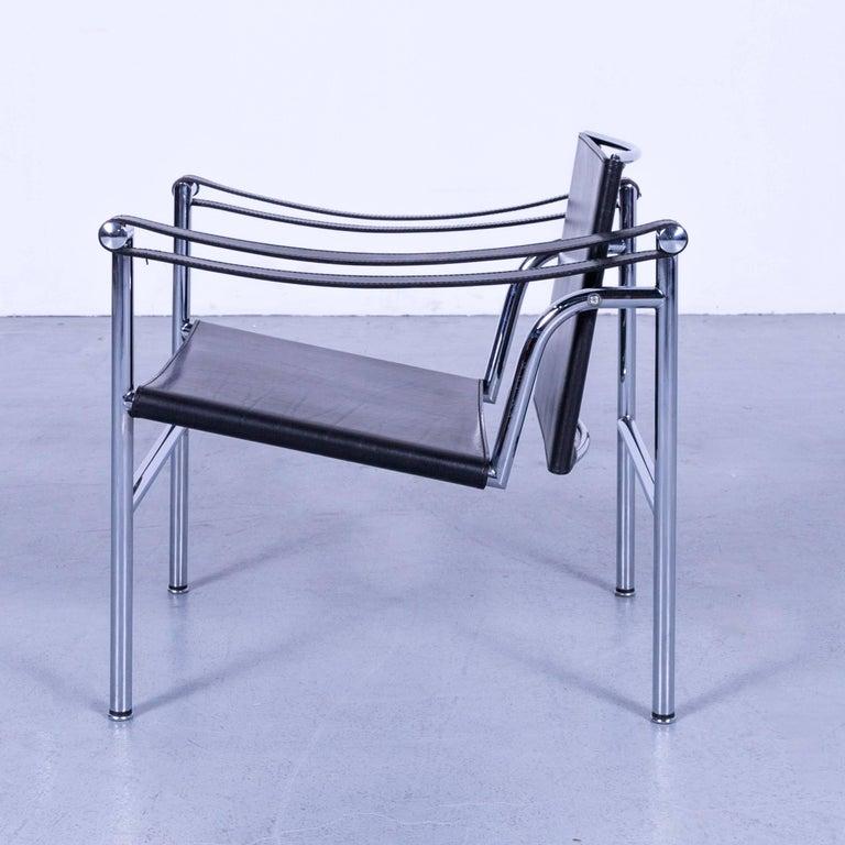 Cassina Le Corbusier LC 1 Sling Chair Black Leather Bauhaus 2
