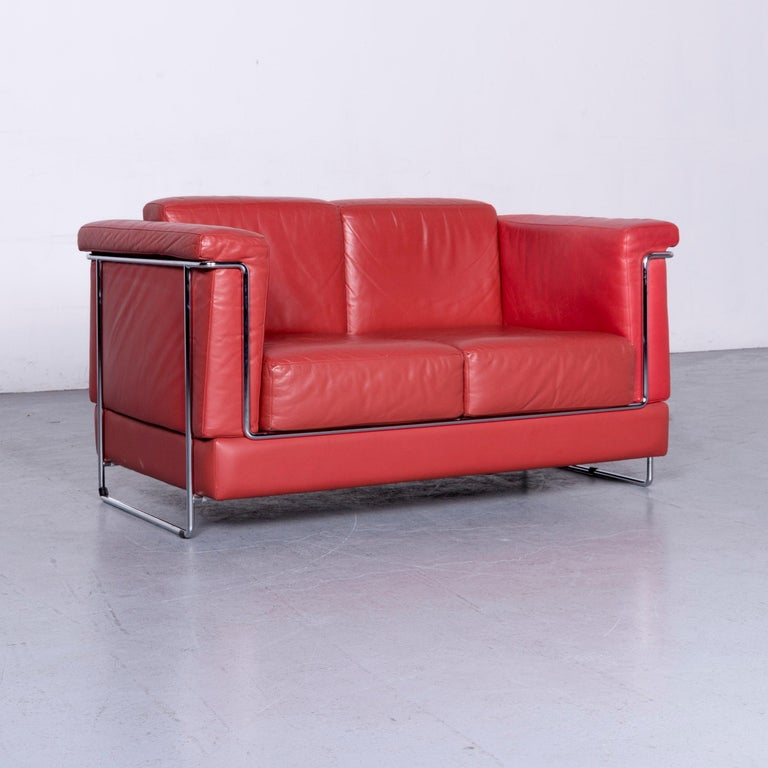We bring to you a Züco Carat Designer Leather Sofa Red Two-Seat Couch