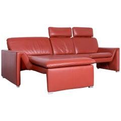 Laauser Corvus Designer Corner Sofa Leather Red Three-Seat Couch Modern
