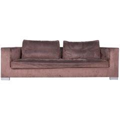 Ligne Roset Rive Gauche Designer Fabric Sofa Brown Two-Seat Couch