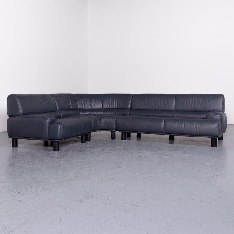 Swiss De Sede DS 18 Designer Leather Corner Couch Sofa For Sale