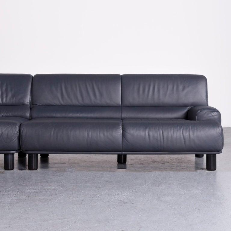 Contemporary De Sede DS 18 Designer Leather Corner Couch Sofa For Sale