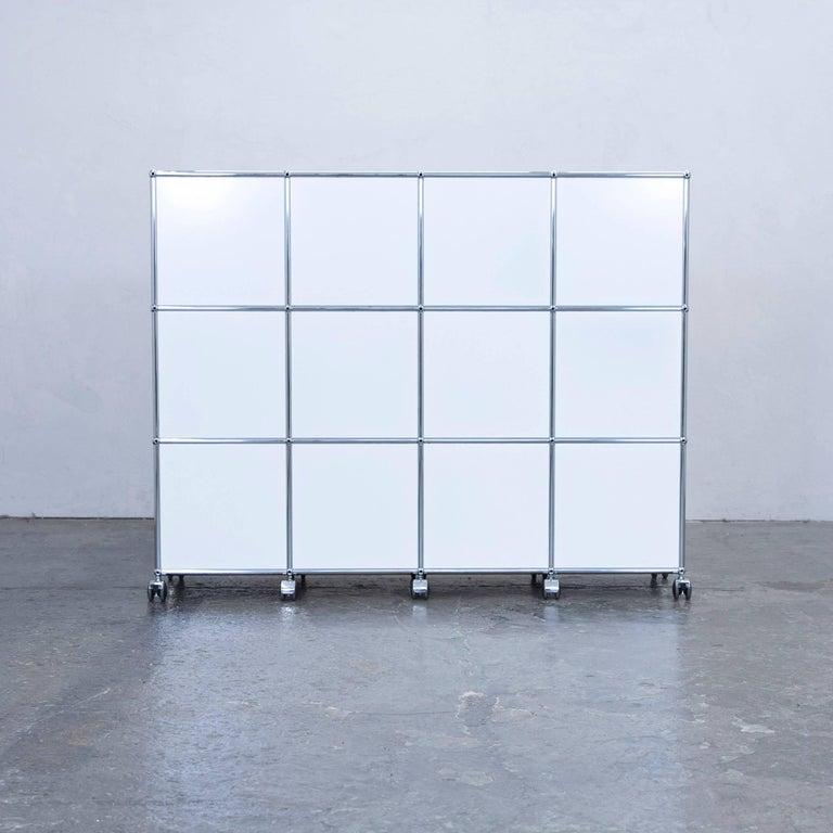 Usm haller designer sideboard white wheels office shelf at for Aktenschrank tiefe 35 cm