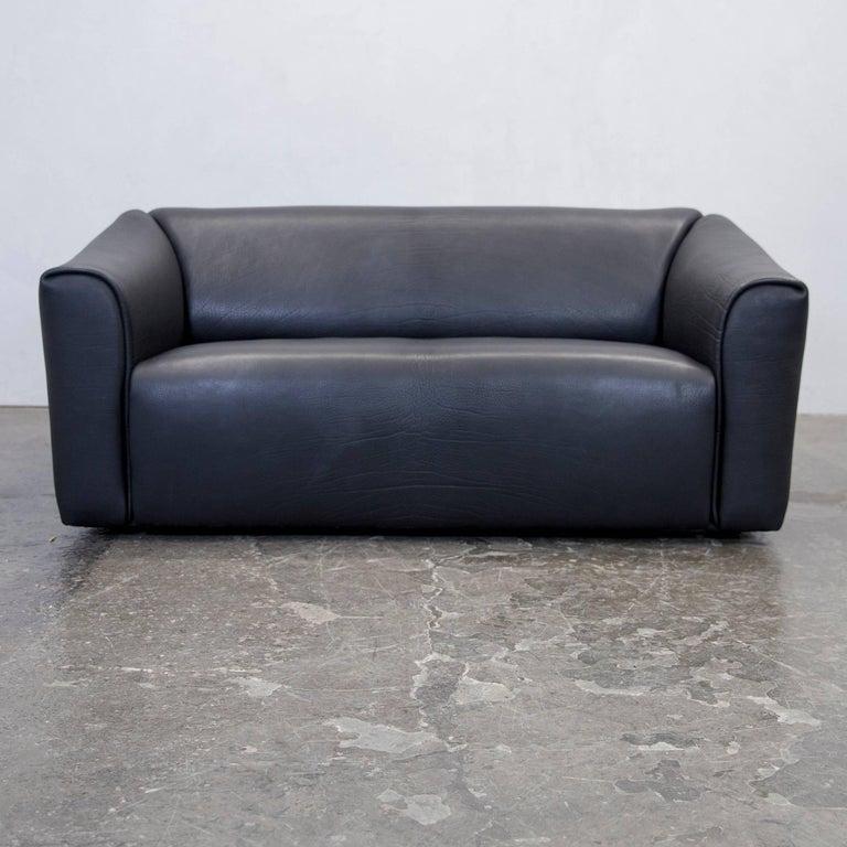 De Sede Ds 47 Designer Sofa Set Neck Leather Black Two-Seat ...