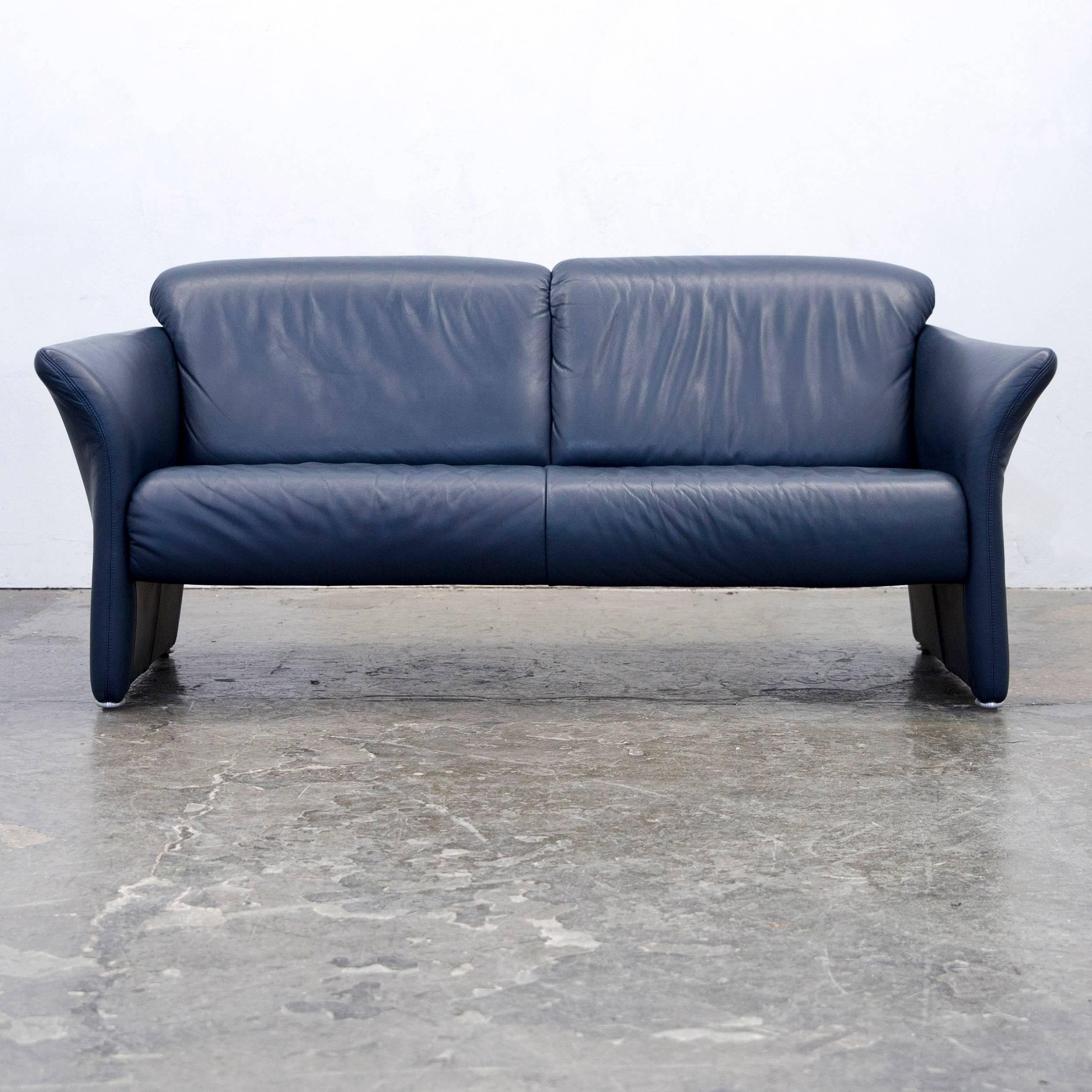 Blickfang Leder Sofa Garnitur Sammlung Von Koinor Designer Set Leather Dark Blue Two