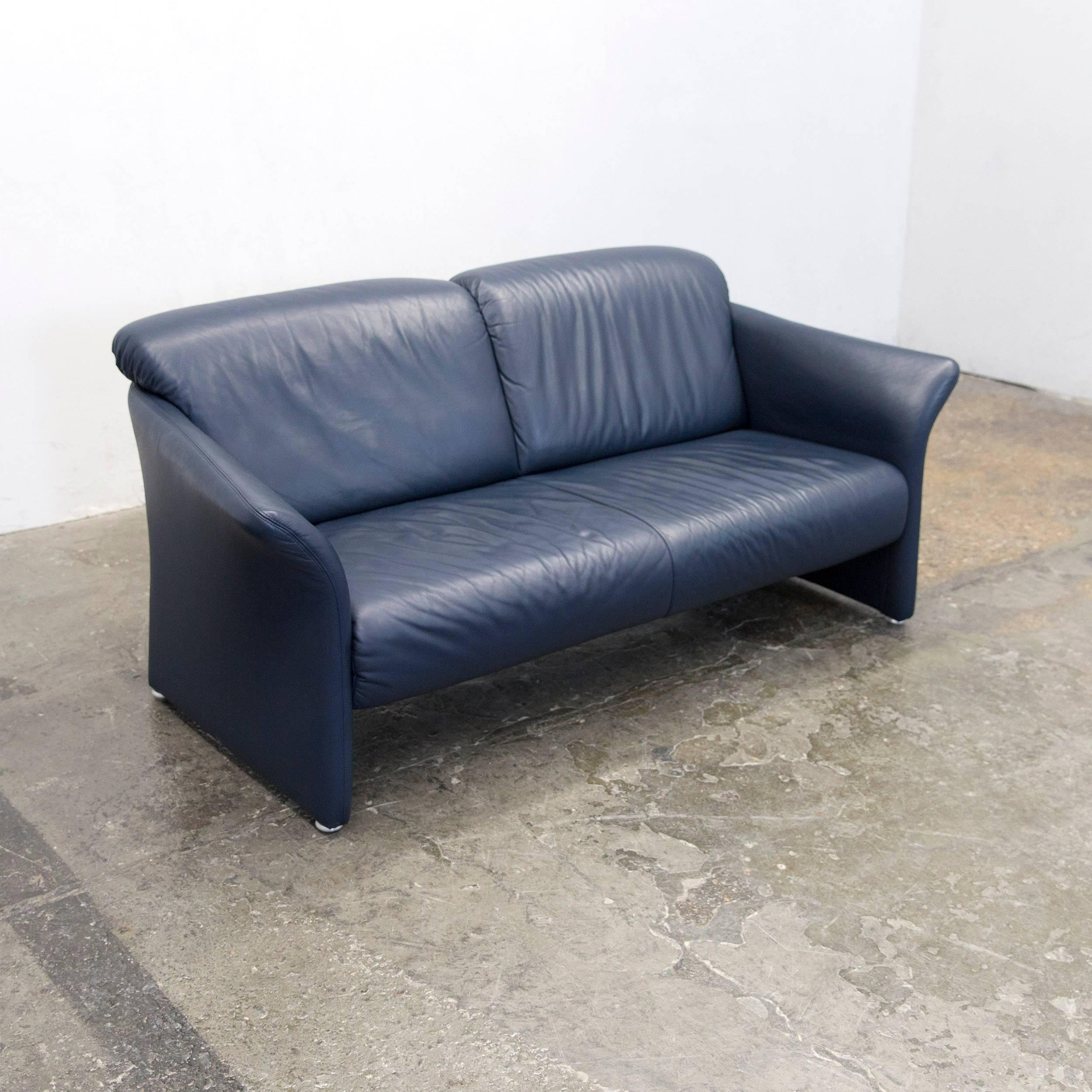Exquisit Sofa Und Sessel Foto Von Koinor Designer Leather Dark Blue Couch Modern
