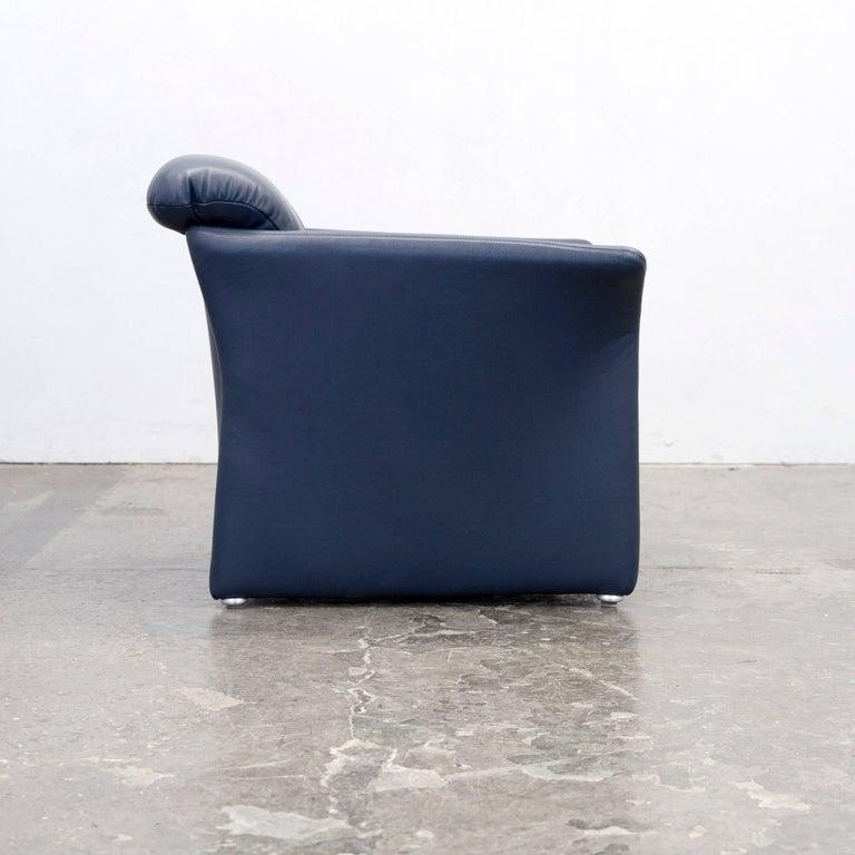 koinor designer armchair leather blue one seat modern for sale at 1stdibs. Black Bedroom Furniture Sets. Home Design Ideas