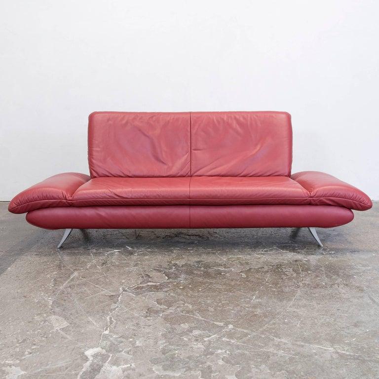Koinor Rossini Designer Sofa Set Red Full Leather Three-Seat, Two ...