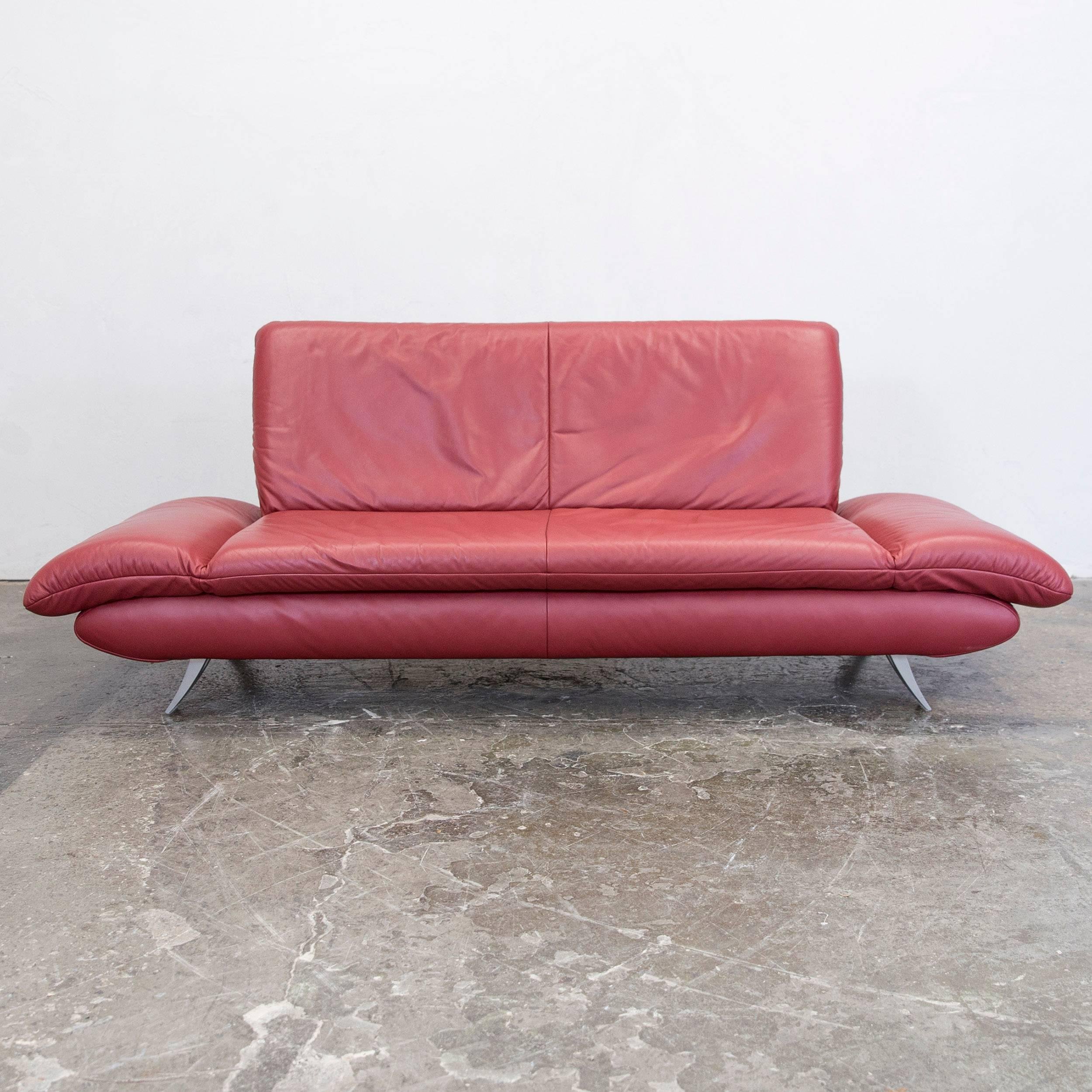 Attractive Amazing Koinor Rossini Designer Sofa Set Red Full Leather Threeseat Twoseat  With Mbel Koinor Ideas