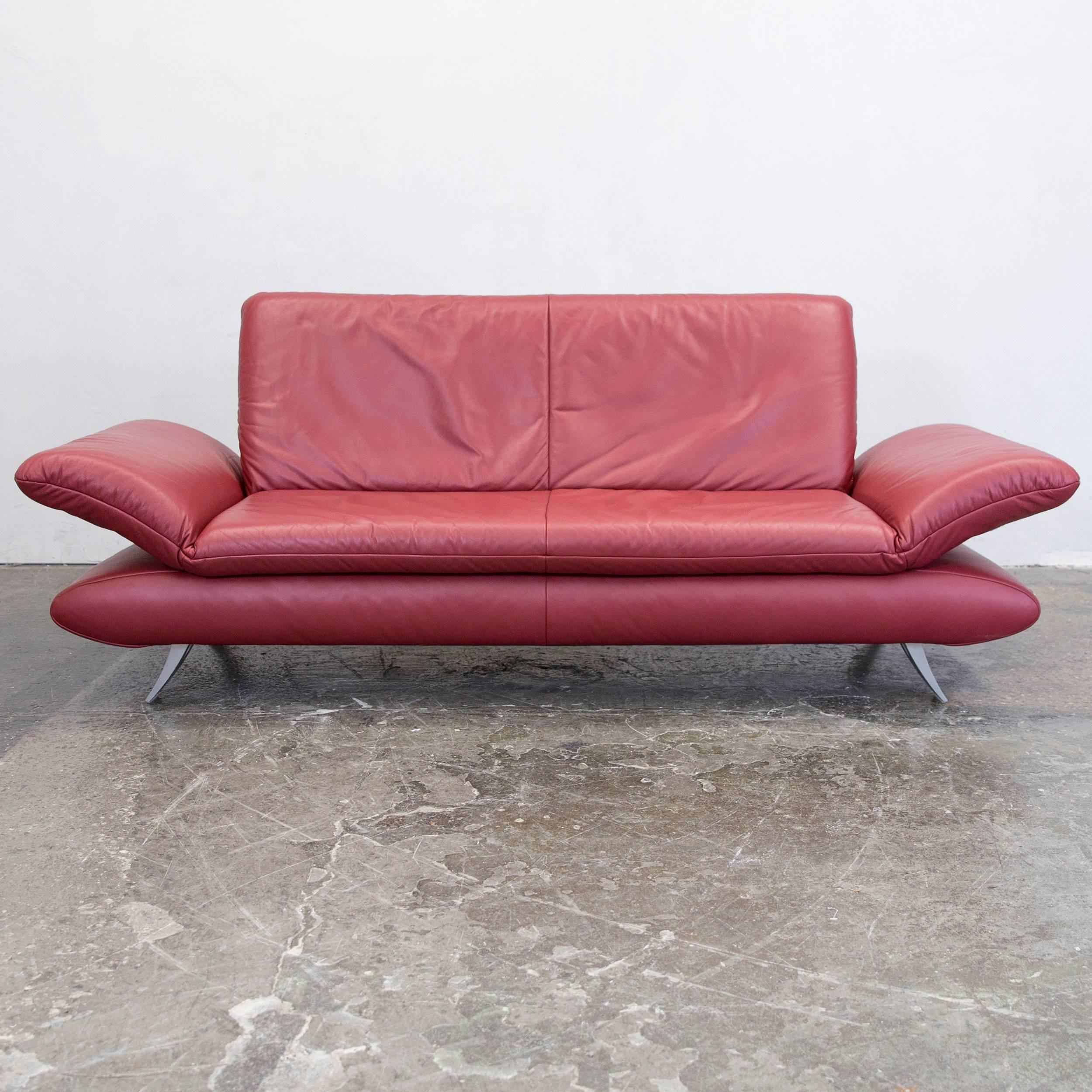 Elegant Koinor Rossini Designer Sofa Set Red Full Leather Three Seat Two Seat  Function Modern Idea