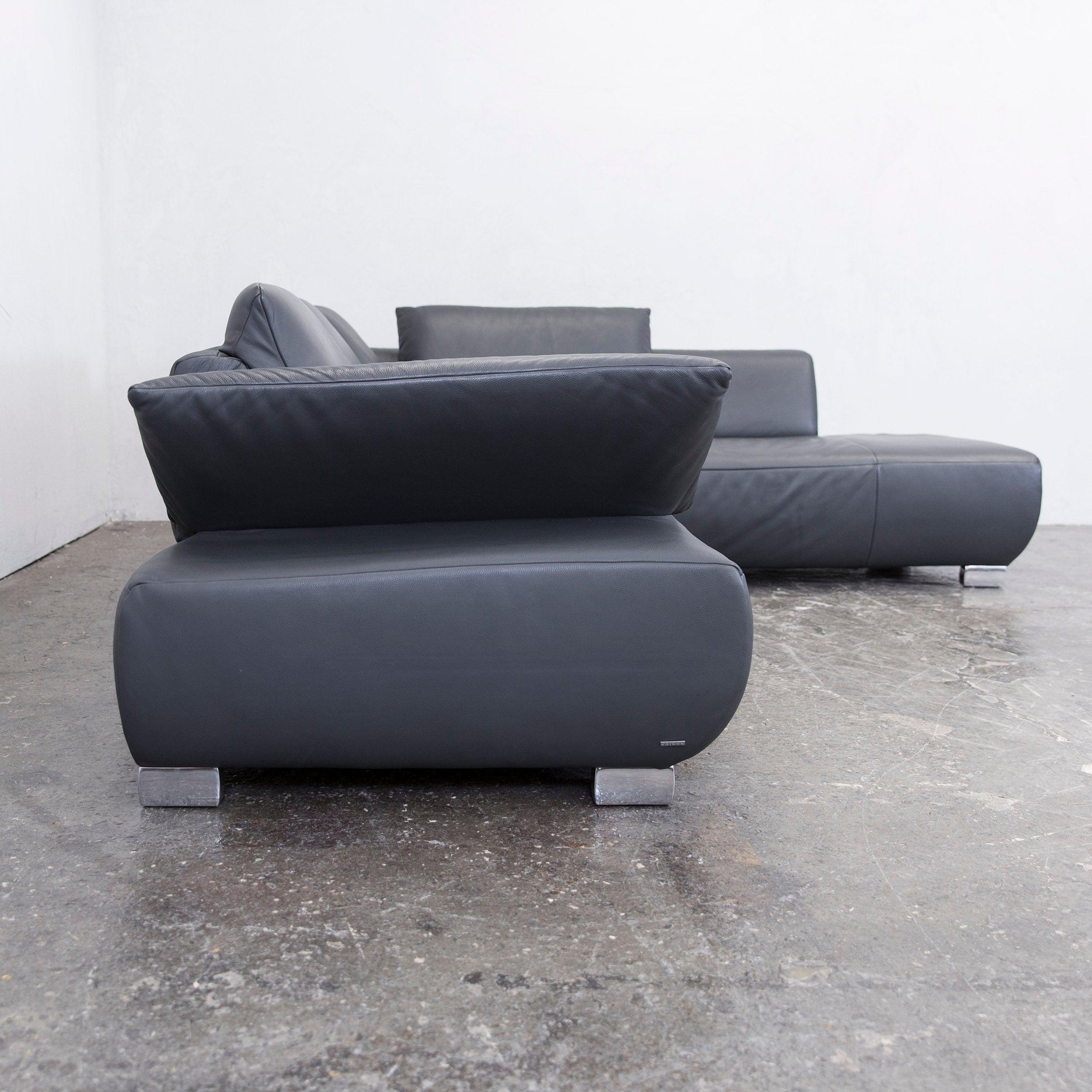 Verführerisch Eckledercouch Foto Von Cheap Koinor Volare Leather Corner Sofa Grey