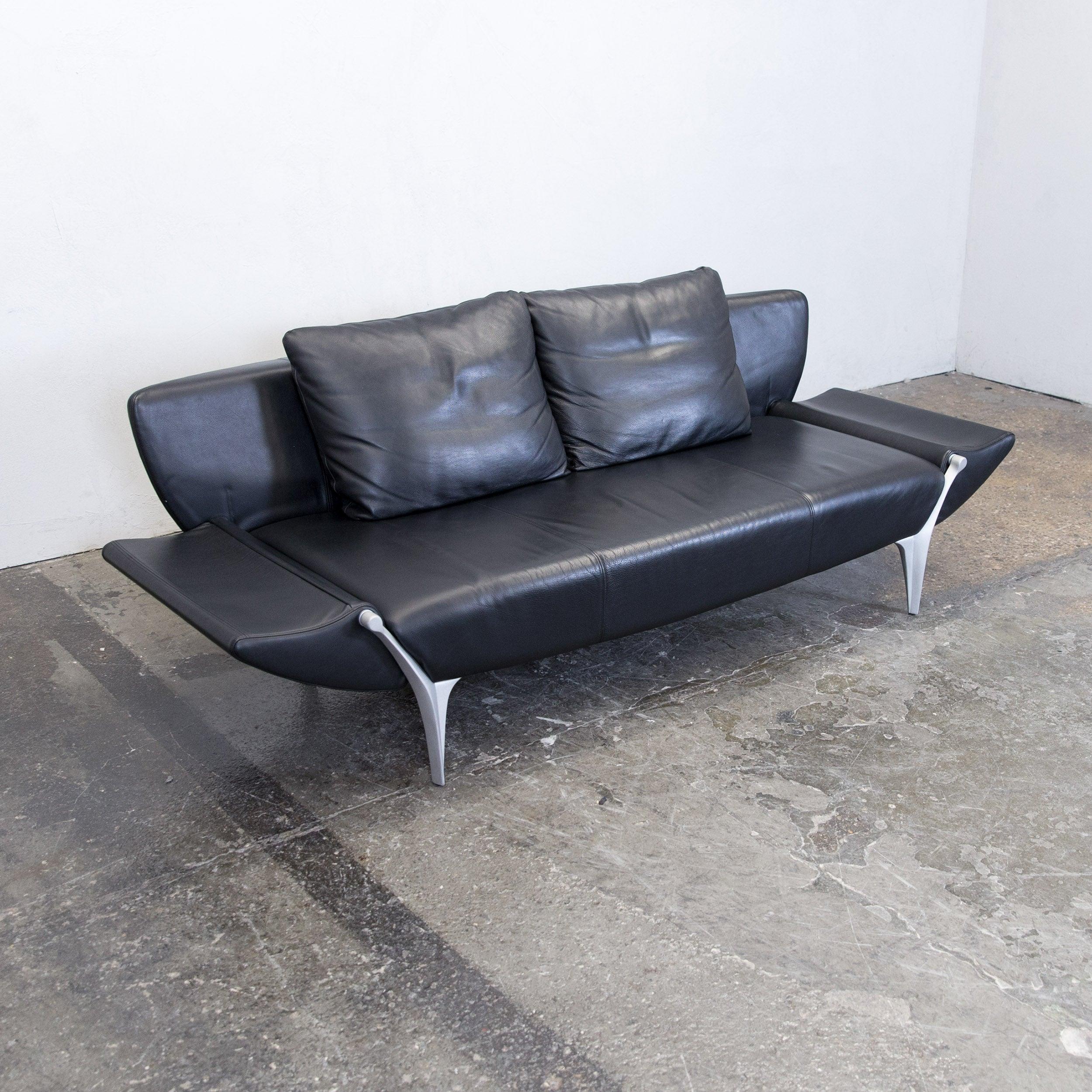 Elegant Sofa Benz Galerie Von Rolf Sob 1600 Designer Leather Black Three-seat