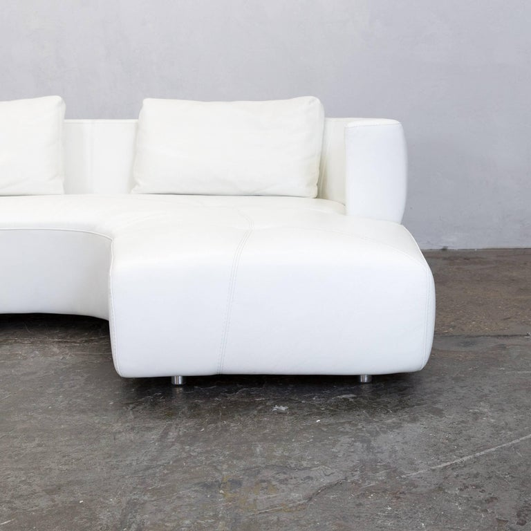la nuova casa leather corner sofa white cr me couch who 39 s. Black Bedroom Furniture Sets. Home Design Ideas