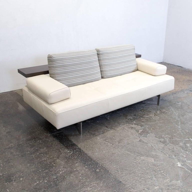 Rolf Dono rolf dono designer three seat leather sofa crème beige at 1stdibs