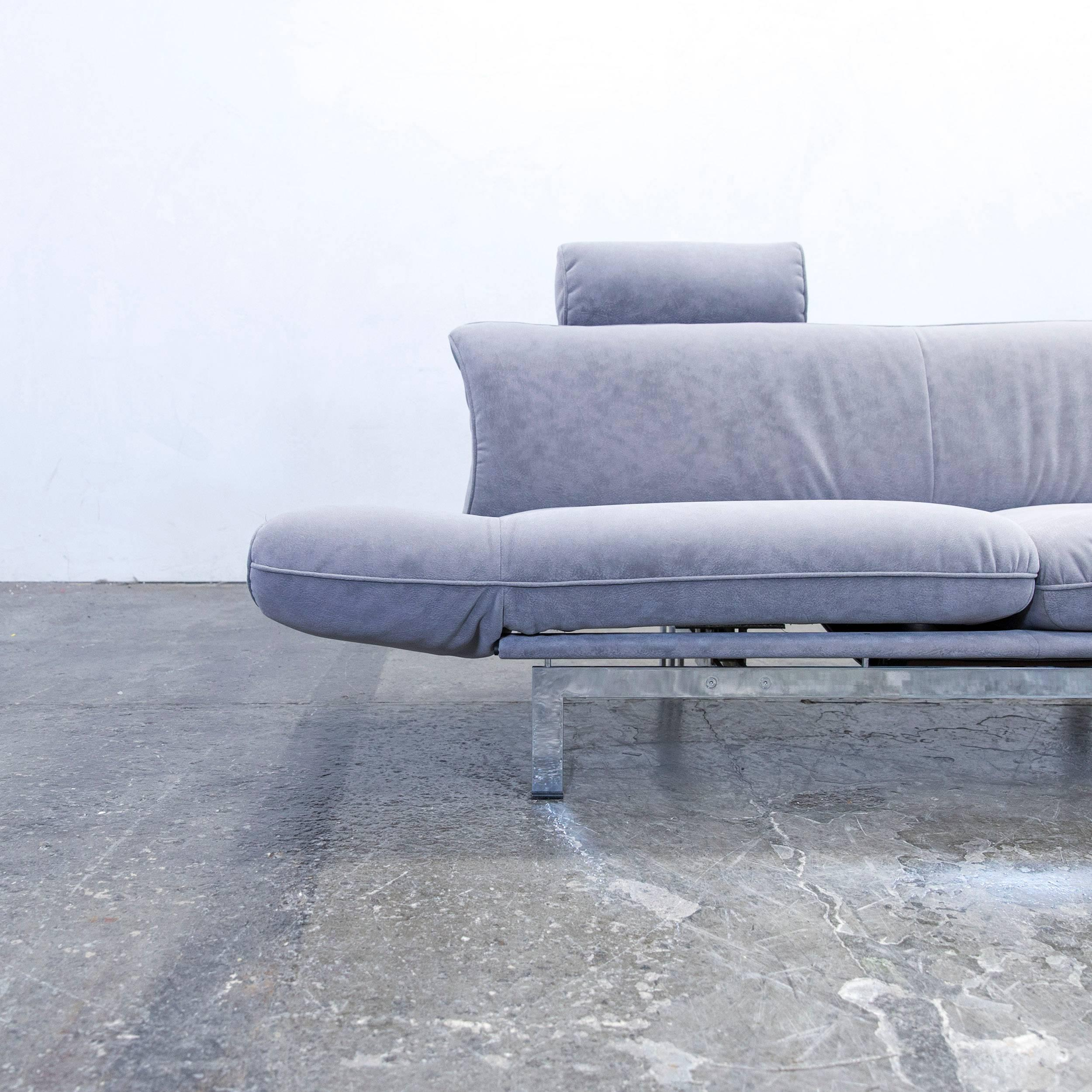 Grey Colored Original De Sede DS 140 Designer Sofa, In A Minimalistic And  Modern Design