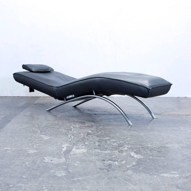koinor jonas designer relax chair leather grey function. Black Bedroom Furniture Sets. Home Design Ideas