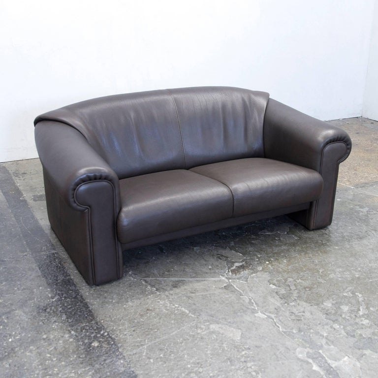 br hl and sippold designer sofa leather brown two seat couch modern at 1stdibs. Black Bedroom Furniture Sets. Home Design Ideas