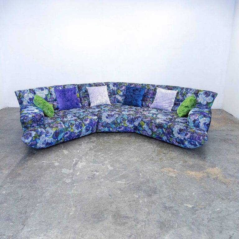 bretz cloud 7 designer cornersofa blue lilac green fabric couch modern pattern at 1stdibs. Black Bedroom Furniture Sets. Home Design Ideas