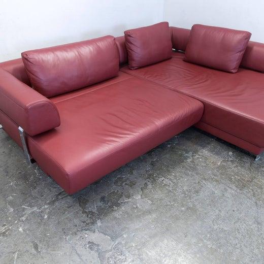 Ewald Schillig Brand Face Designer Corner Sofa Leather Red Couch ...