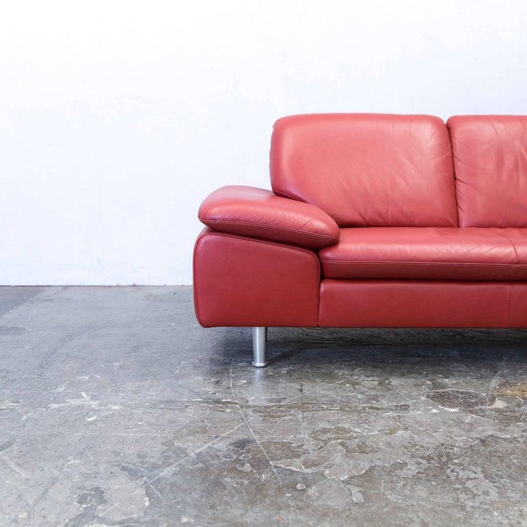 willi schillig loop designer corner sofa leather red couch modern for sale at 1stdibs. Black Bedroom Furniture Sets. Home Design Ideas