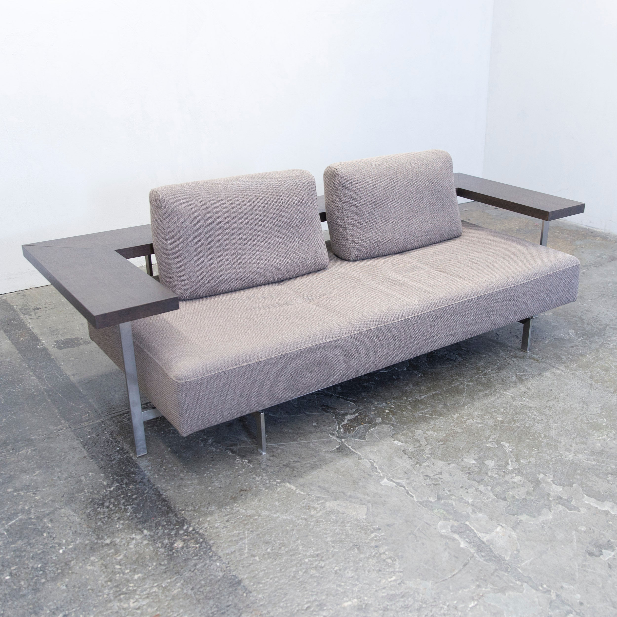 Excellent Rolf Benz Dono Designer Sofa Grey Fabric Twoseat Couch Modern At  Stdibs With Sofa Grau Modern