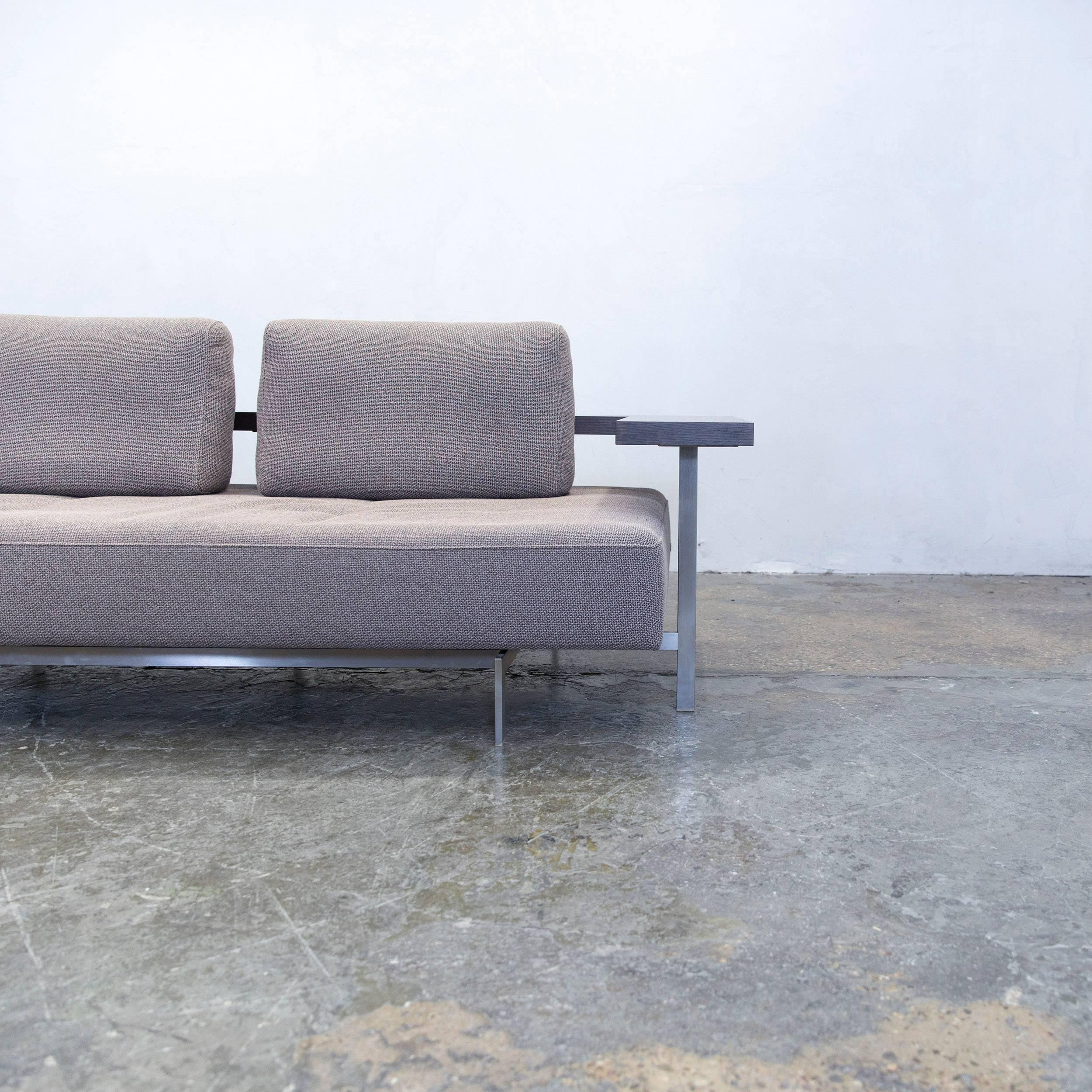 Rolf Benz Dono 6100 Designer Sofa Grey Fabric Two Seat Couch Modern