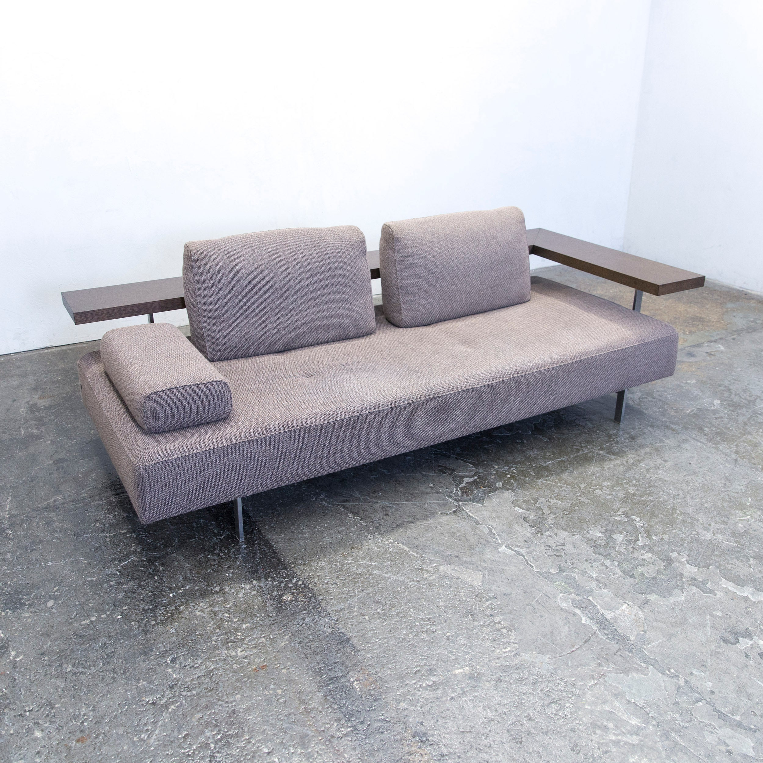 Rolf Benz Dono 6100 Designer Sofa Set Grey Fabric Two Seat Couch