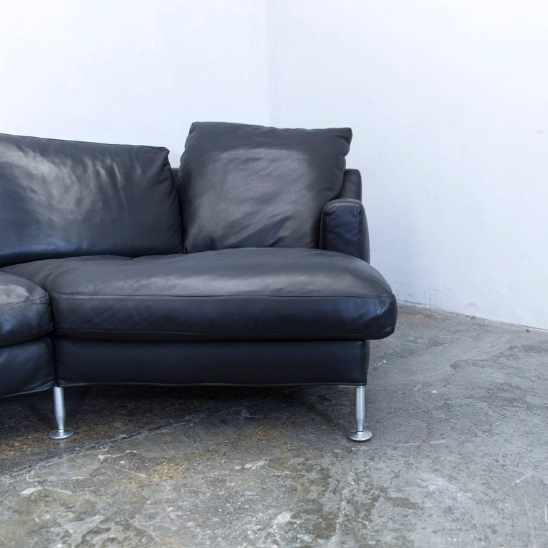 B&B Italia Harry Designer Corner Sofa Leather Black Couch Modern at ...